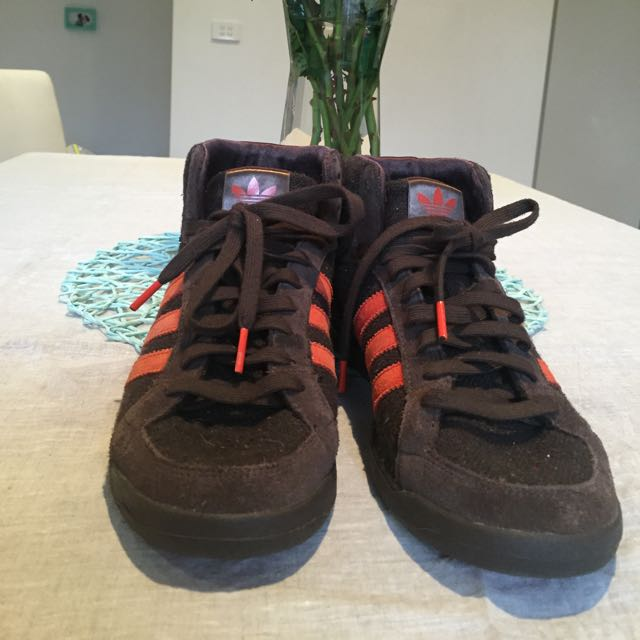 Adidas Mid Brown Orange Vintage Style