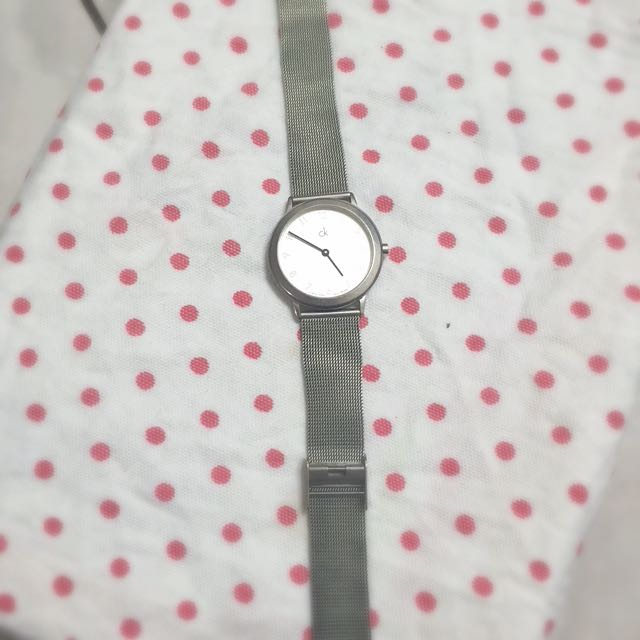 CK錶 經典超薄米蘭編織仕女腕錶
