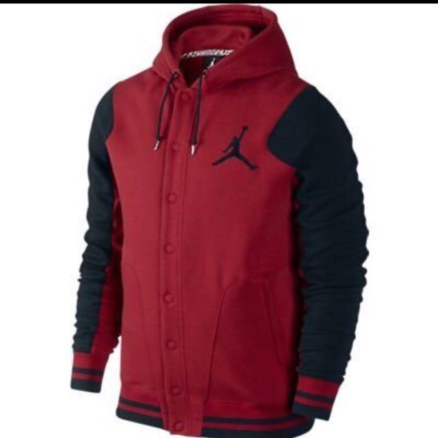 Jordan 黑紅 棒球外套