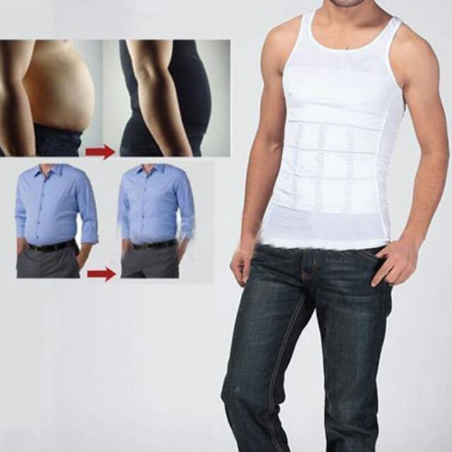 573851c2611bb Men Body Shaper Slimming Tummy Shaper Vest Belly Underwear Shapewear Waist  Girdle Shirt