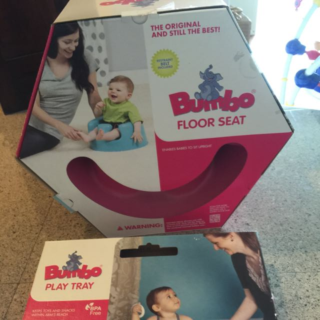 Pink Bumbo Floor Seat With tray