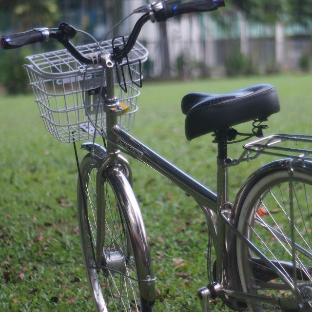 "PRE-LOVED ULTRA MODERN CHROMED 27"" CLASSIC CITY BICYCLE"