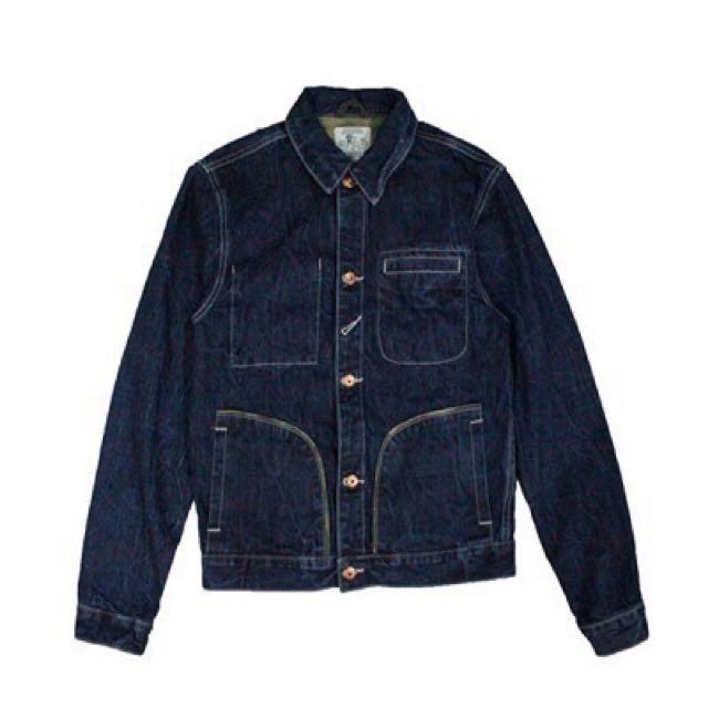 PRPS 水洗卡其復古外套 厚款 工裝夾克 原色牛仔夾克 外套