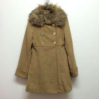 日系駝色大衣