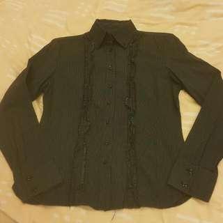《出清出清》Sisley·尺寸S·OL系列黑直線系條紋襯衫