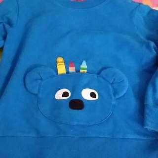 藍色蠟筆熊上衣