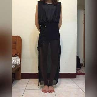 黑色薄紗造型洋(婚禮/夜店/派對都很適合喔)