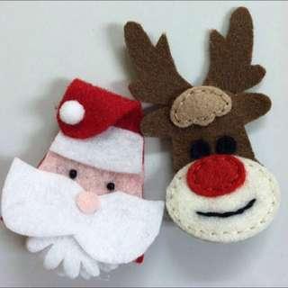 santa and deer hair piece