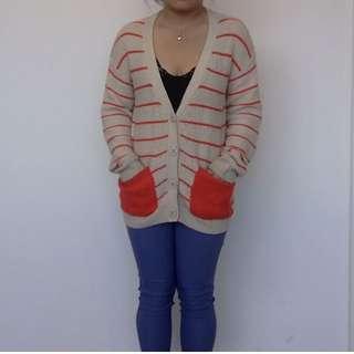 VERO MODA Organe Ivory knitwear cardigan