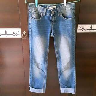 (二手)深藍牛仔褲