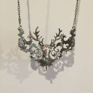 Necklace, Silver Stag