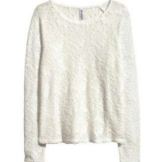 H&M Long Sleeve Lace Top