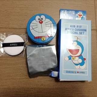 韓國APIEU哆啦a夢聯名款氣墊粉餅限量版#色號21明亮