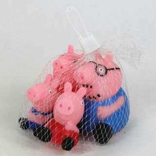 《現貨剩10組》peppa pig佩佩豬 洗澡玩具 一家人