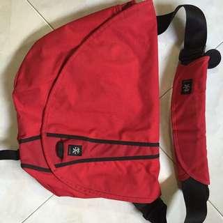 Red Crumpler Bag With Shoulder Pad