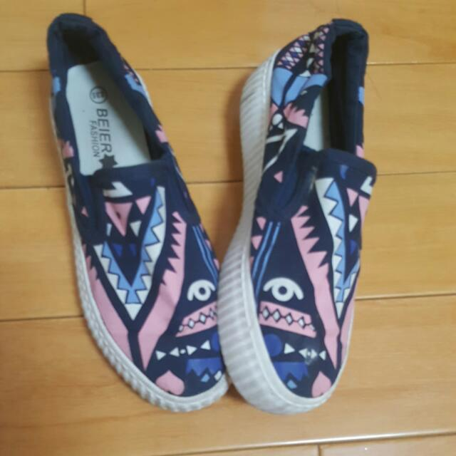 帆布厚/平底鞋(約4-5cm)