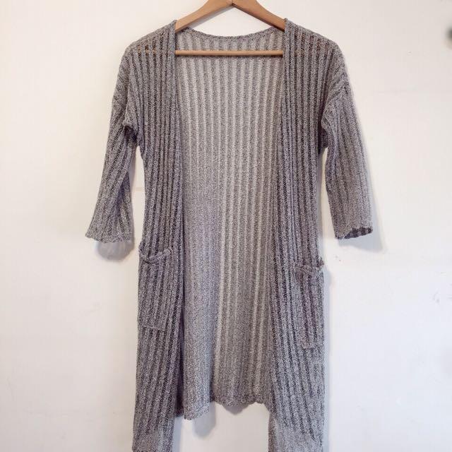 針織長版罩衫