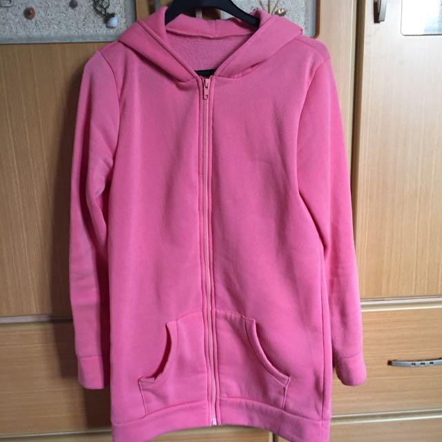 可愛粉色外套