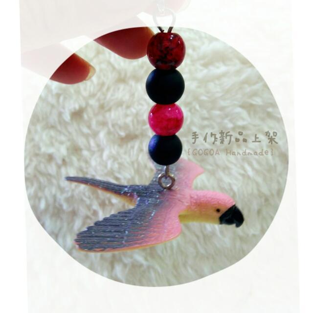 【鳥鳥系列】手作飛飛鸚鵡吊飾
