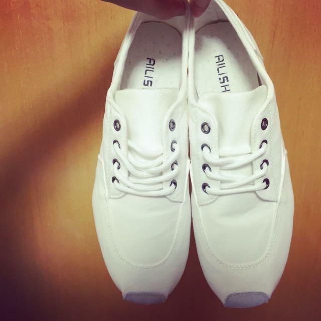 [ 休閒帆布小白球鞋]男女款