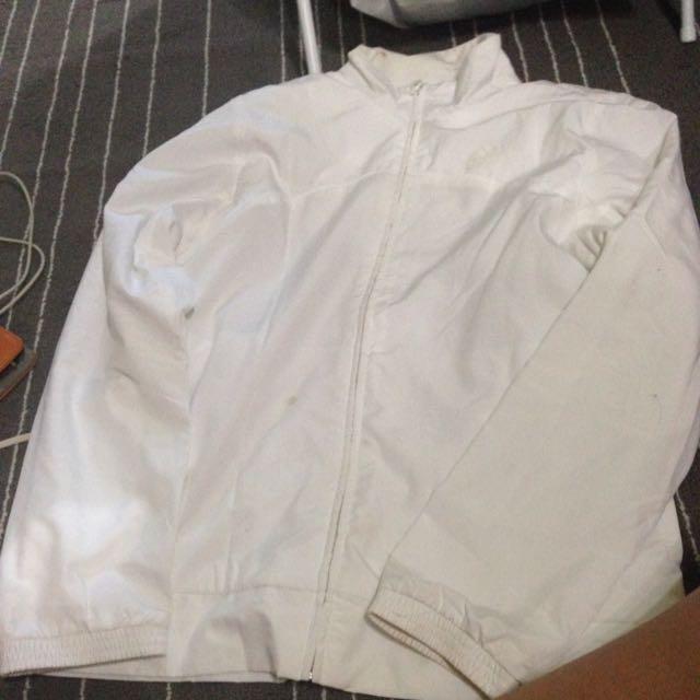 All White Adidas Windbreaker 25d863fb7