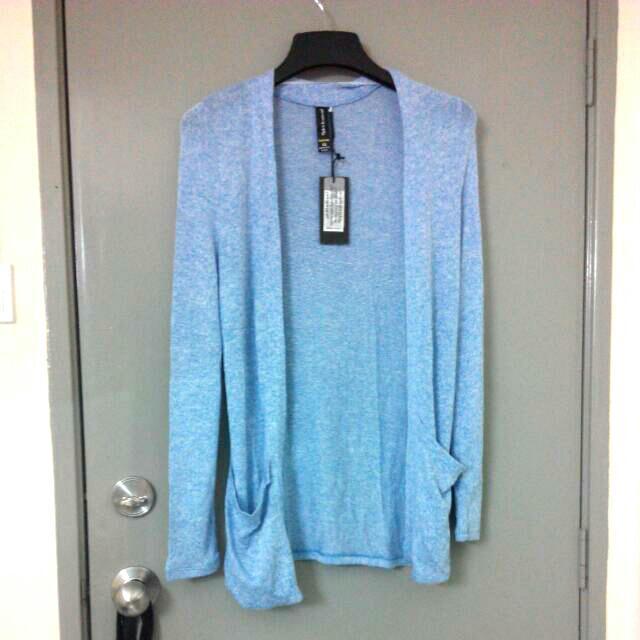 Factorie Long blue cardigan