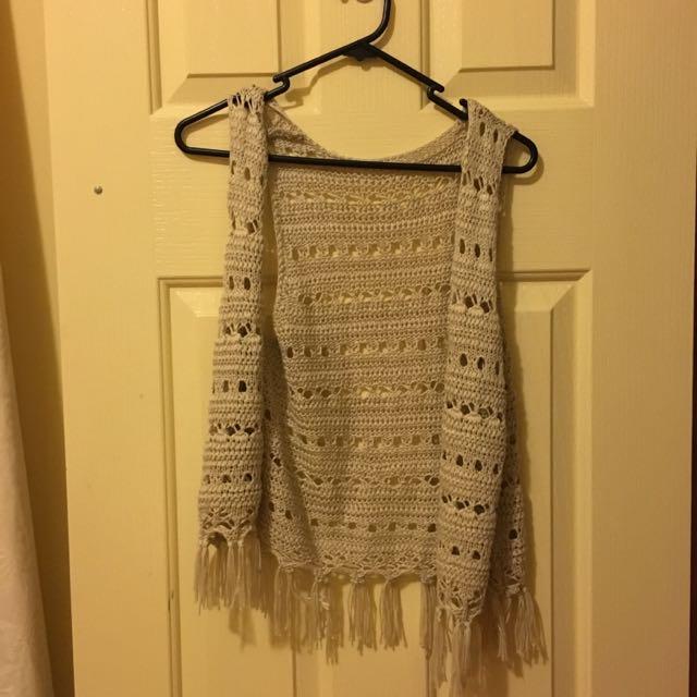 Boho Fringe Crochet Vest