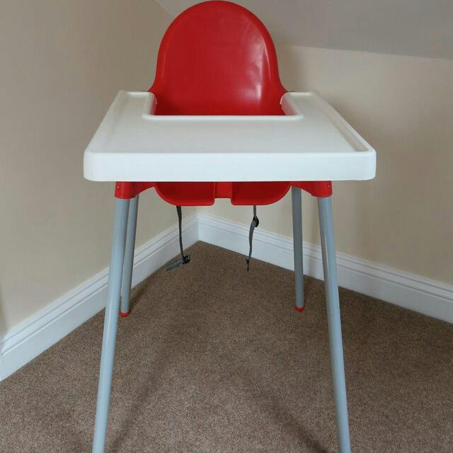 Ikea Antilop High Chair With Tray Babies Kids On Carousell