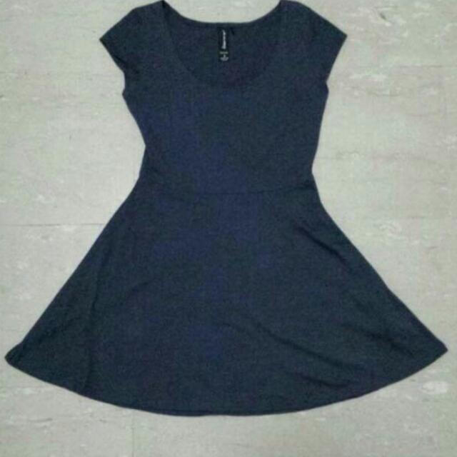 Factorie Navy Blue Skater Dress