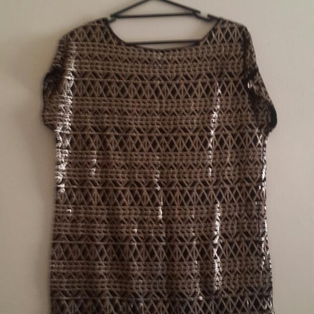 H&M Sequin Top.  Oversized M