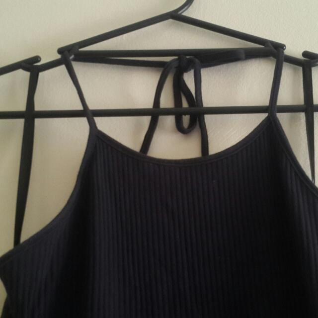 Mink Pink Halter Dress Navy Size M