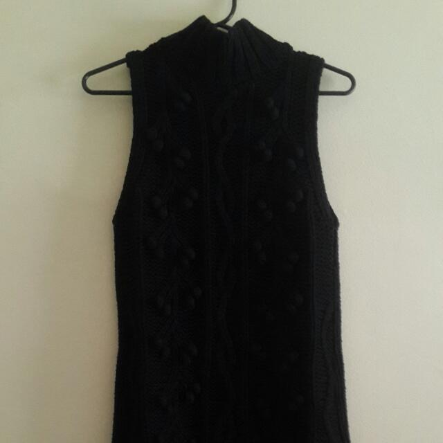 Mink Pink Knee Length, High Neck Dress Size 12