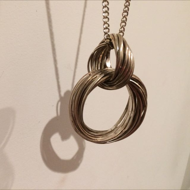 Necklace, Antique Silver Rings