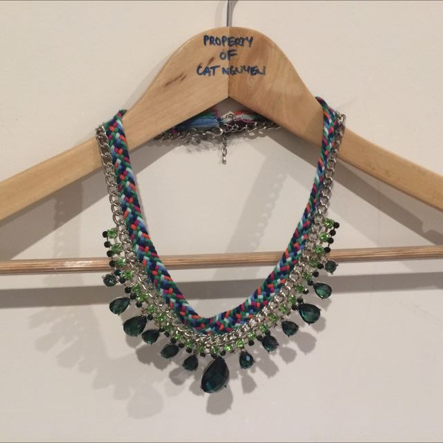 Necklace, Bejewelled Multi Coloured
