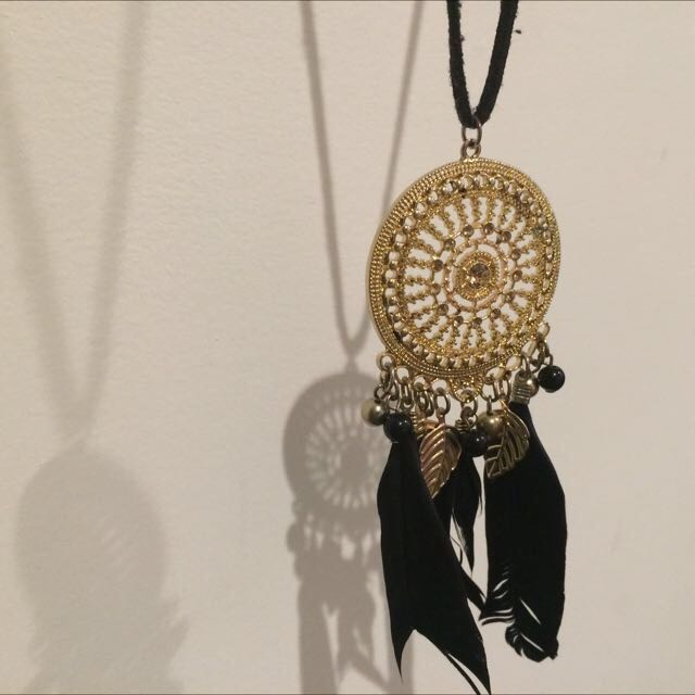 Necklace, Black And Gold, Extra Long