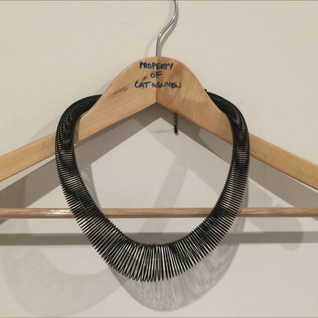 Necklace, Black Spring