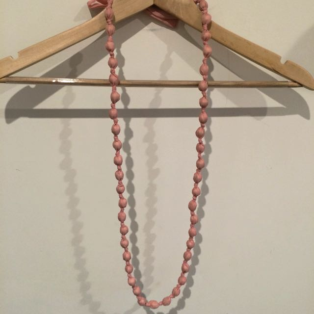Necklace, Long, Soft Blush Pink