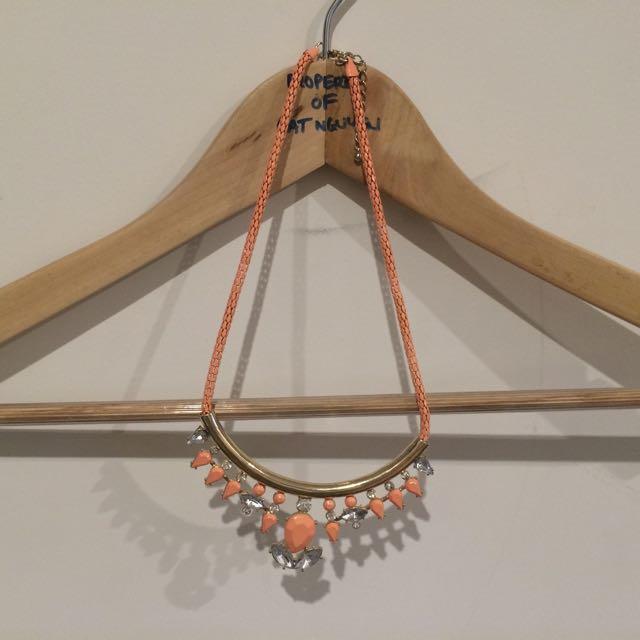 Necklace, Peach Multi