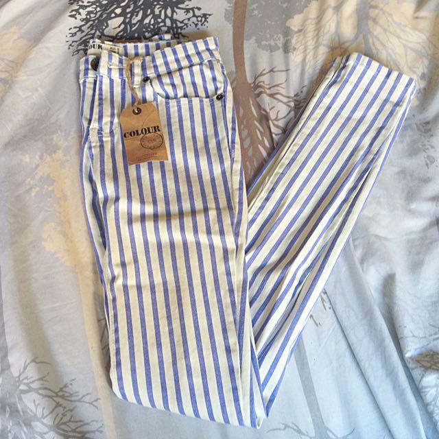 New!! CottonOn Striped Jeans