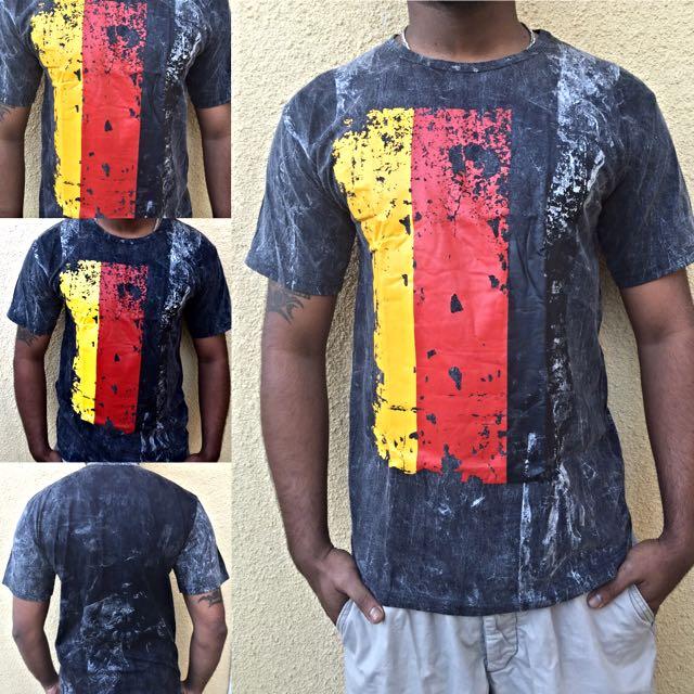 New Die Tye Printed Flag T-shirt