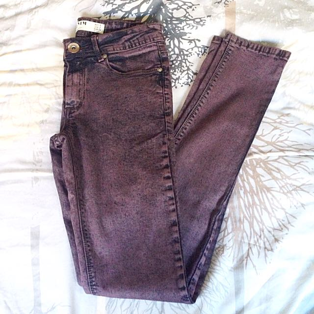 New!! Purple Acid Wash Jeans