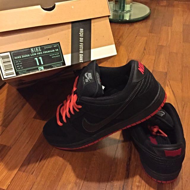 promo code 1069d a5a61 Nike SB dunk X Levis Black Low Pro Premium Denim US 11 ...