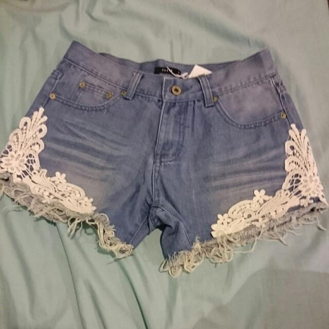 PAZZO Lace Detailed Shorts