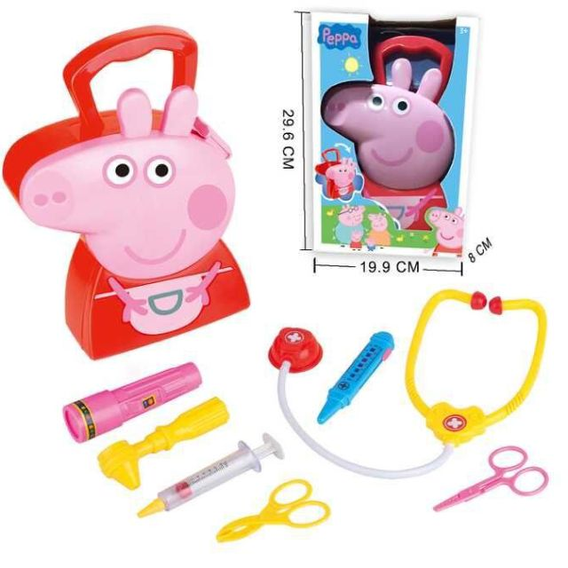 peppa pig 粉紅豬小妹 佩佩豬辦家家系列 家具組 醫生組【攜便手提收納盒】