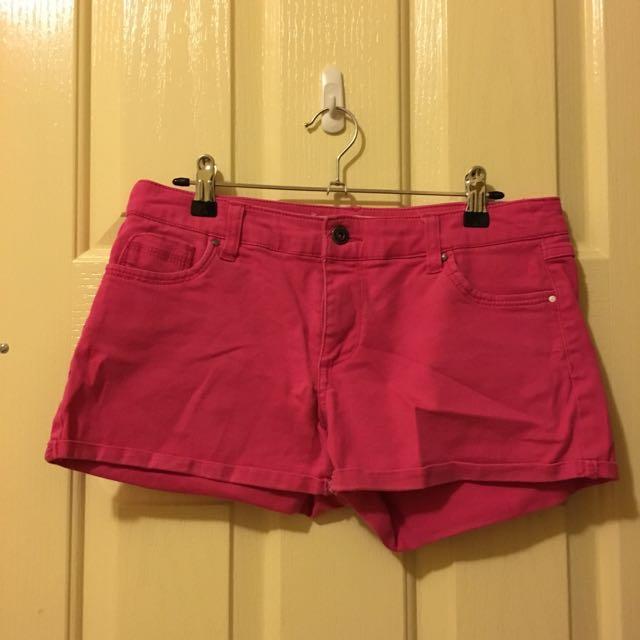 Pink Wash Denim Shorts
