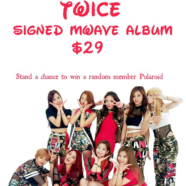 Twice Mwave Signed Album The Story Begins, Entertainment, K
