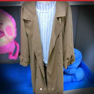 駝色 深米色 長版 外套