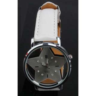 🚚 [In Stocks] Creative Star Shaped Analog Watch (White)