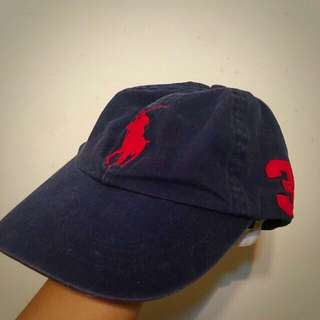 (已售出)Ralph Lauren Polo 深藍底紅logo復古老帽
