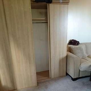 2 Door Sliding Wardrobe Cupboard